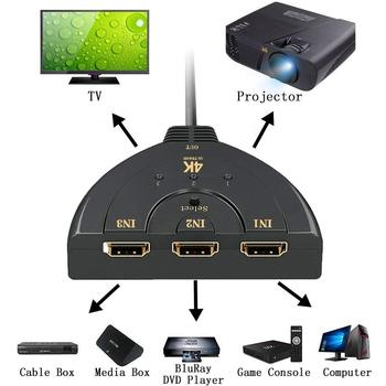 HDMI Splitter 3 Port HDMI Switch 1.4 b 4K Switcher